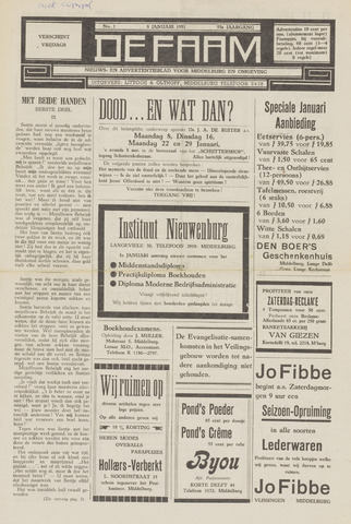 de Faam en de Faam/de Vlissinger 1951