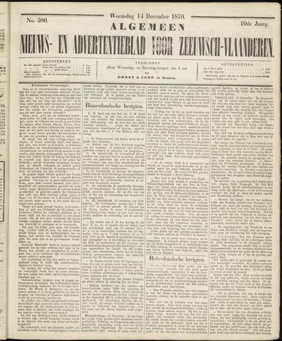 Ter Neuzensche Courant. Algemeen Nieuws- en Advertentieblad voor Zeeuwsch-Vlaanderen / Neuzensche Courant ... (idem) / (Algemeen) nieuws en advertentieblad voor Zeeuwsch-Vlaanderen 1870-12-14