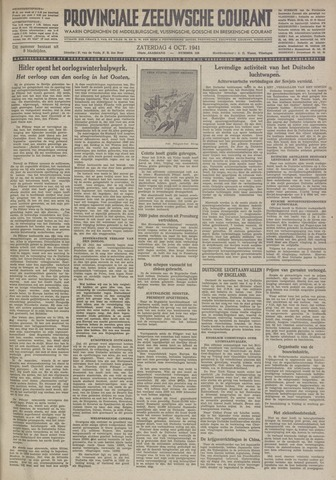 Provinciale Zeeuwse Courant 1941-10-04