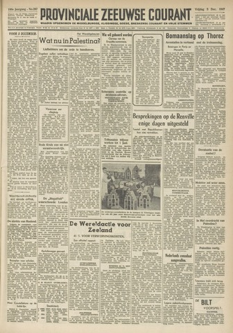 Provinciale Zeeuwse Courant 1947-12-05