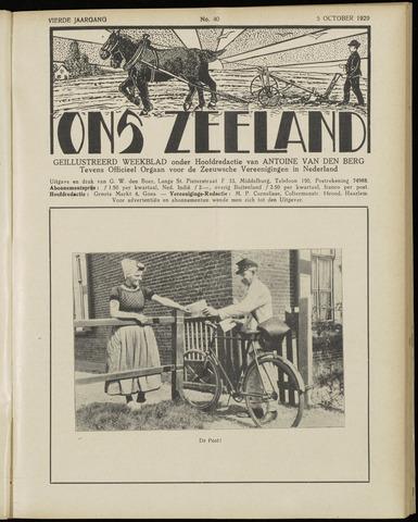 Ons Zeeland / Zeeuwsche editie 1929-10-05