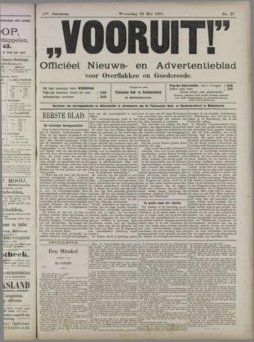 """""""Vooruit!""""Officieel Nieuws- en Advertentieblad voor Overflakkee en Goedereede 1911-05-24"""