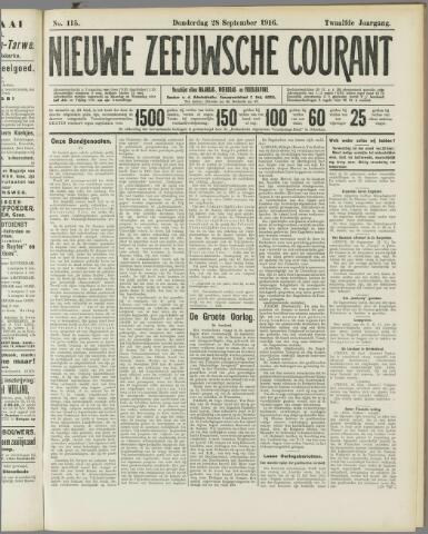 Nieuwe Zeeuwsche Courant 1916-09-28
