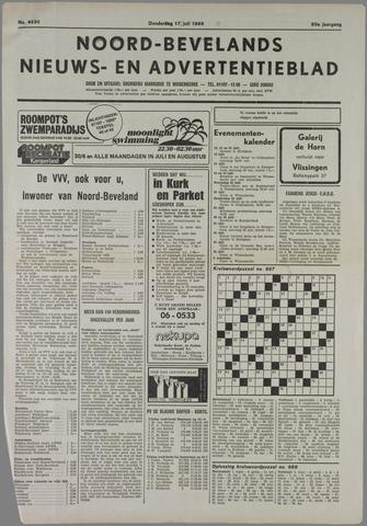 Noord-Bevelands Nieuws- en advertentieblad 1986-07-17