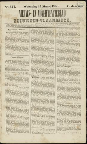 Ter Neuzensche Courant. Algemeen Nieuws- en Advertentieblad voor Zeeuwsch-Vlaanderen / Neuzensche Courant ... (idem) / (Algemeen) nieuws en advertentieblad voor Zeeuwsch-Vlaanderen 1860-03-14