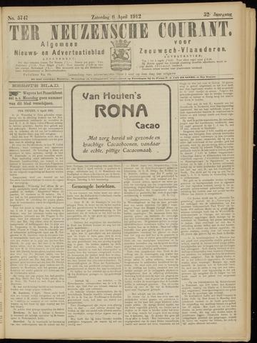 Ter Neuzensche Courant. Algemeen Nieuws- en Advertentieblad voor Zeeuwsch-Vlaanderen / Neuzensche Courant ... (idem) / (Algemeen) nieuws en advertentieblad voor Zeeuwsch-Vlaanderen 1912-04-06