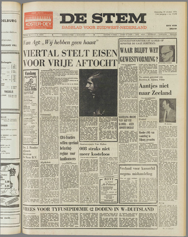 de Stem 1974-10-30