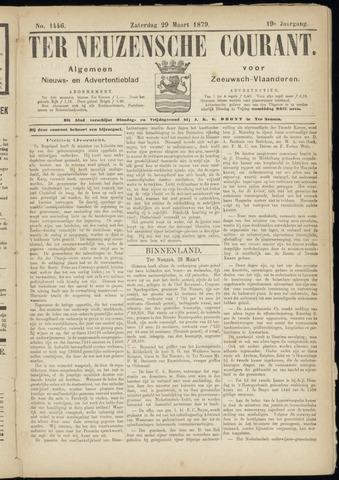 Ter Neuzensche Courant. Algemeen Nieuws- en Advertentieblad voor Zeeuwsch-Vlaanderen / Neuzensche Courant ... (idem) / (Algemeen) nieuws en advertentieblad voor Zeeuwsch-Vlaanderen 1879-03-29