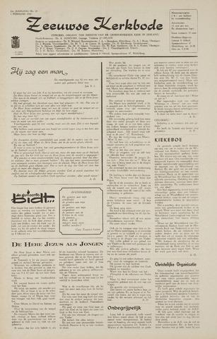 Zeeuwsche kerkbode, weekblad gewijd aan de belangen der gereformeerde kerken/ Zeeuwsch kerkblad 1968-02-01