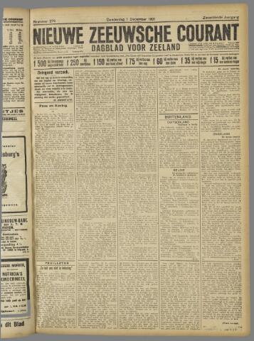 Nieuwe Zeeuwsche Courant 1921-12-01
