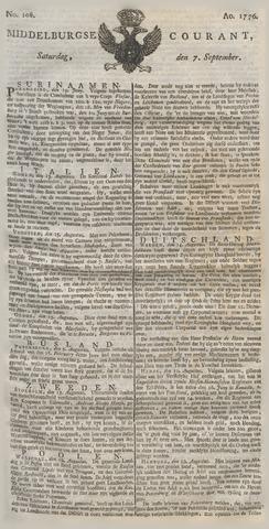 Middelburgsche Courant 1776-09-07