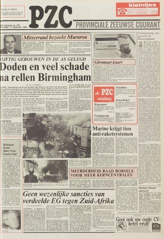 Provinciale Zeeuwse Courant 1985-09-11