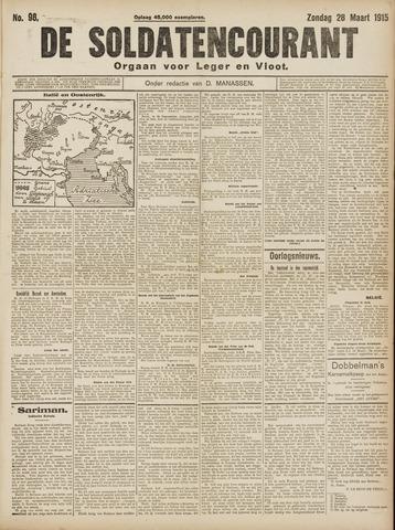 De Soldatencourant. Orgaan voor Leger en Vloot 1915-03-28