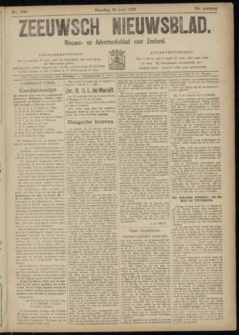 Ter Neuzensch Volksblad. Vrijzinnig nieuws- en advertentieblad voor Zeeuwsch- Vlaanderen / Zeeuwsch Nieuwsblad. Nieuws- en advertentieblad voor Zeeland 1918-06-22