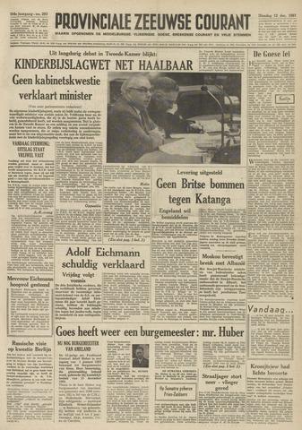 Provinciale Zeeuwse Courant 1961-12-12