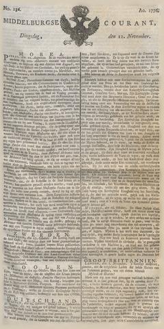 Middelburgsche Courant 1776-11-12