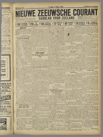 Nieuwe Zeeuwsche Courant 1922-03-03