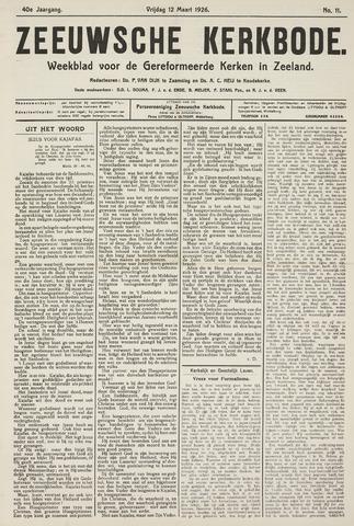 Zeeuwsche kerkbode, weekblad gewijd aan de belangen der gereformeerde kerken/ Zeeuwsch kerkblad 1926-03-12