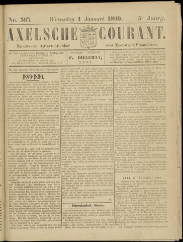 Axelsche Courant 1890