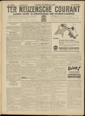 Ter Neuzensche Courant. Algemeen Nieuws- en Advertentieblad voor Zeeuwsch-Vlaanderen / Neuzensche Courant ... (idem) / (Algemeen) nieuws en advertentieblad voor Zeeuwsch-Vlaanderen 1939-02-24