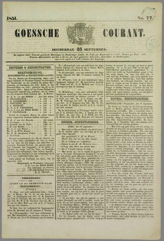 Goessche Courant 1851-09-25