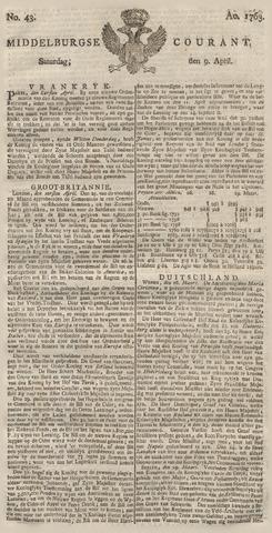 Middelburgsche Courant 1763-04-09