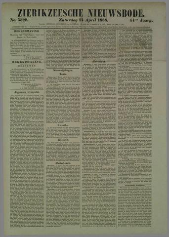 Zierikzeesche Nieuwsbode 1888-04-14