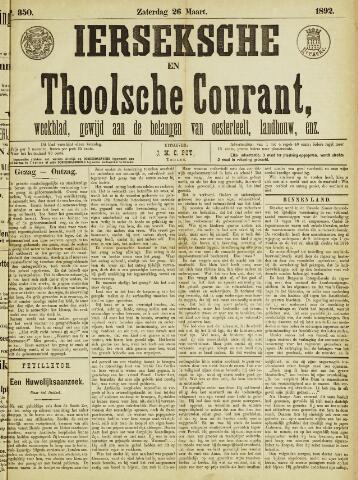 Ierseksche en Thoolsche Courant 1892-03-26