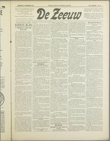 De Zeeuw. Christelijk-historisch nieuwsblad voor Zeeland 1934-11-08