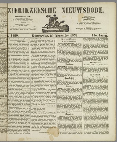 Zierikzeesche Nieuwsbode 1854-11-23