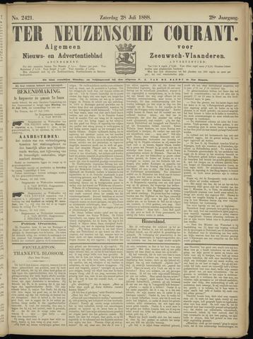 Ter Neuzensche Courant. Algemeen Nieuws- en Advertentieblad voor Zeeuwsch-Vlaanderen / Neuzensche Courant ... (idem) / (Algemeen) nieuws en advertentieblad voor Zeeuwsch-Vlaanderen 1888-07-28