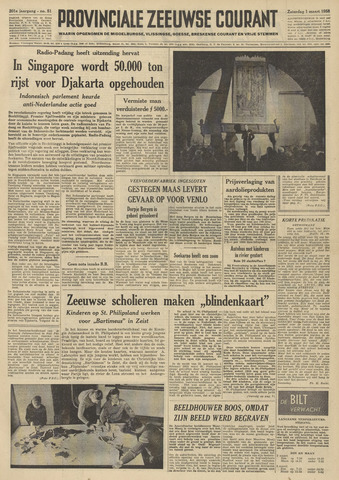 Provinciale Zeeuwse Courant 1958-03-01