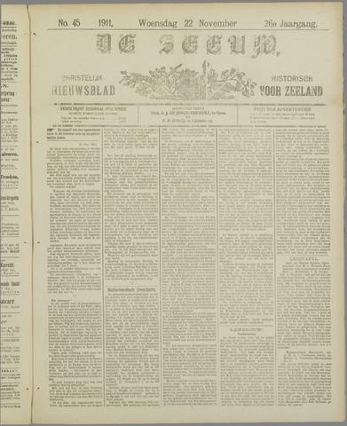 De Zeeuw. Christelijk-historisch nieuwsblad voor Zeeland 1911-11-22