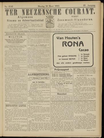 Ter Neuzensche Courant. Algemeen Nieuws- en Advertentieblad voor Zeeuwsch-Vlaanderen / Neuzensche Courant ... (idem) / (Algemeen) nieuws en advertentieblad voor Zeeuwsch-Vlaanderen 1912-03-26