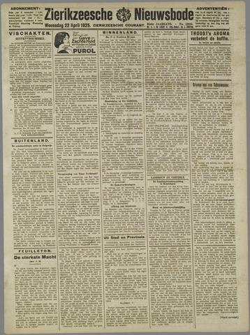 Zierikzeesche Nieuwsbode 1925-04-22