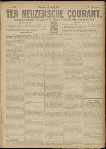 Ter Neuzensche Courant. Algemeen Nieuws- en Advertentieblad voor Zeeuwsch-Vlaanderen / Neuzensche Courant ... (idem) / (Algemeen) nieuws en advertentieblad voor Zeeuwsch-Vlaanderen 1916-04-18