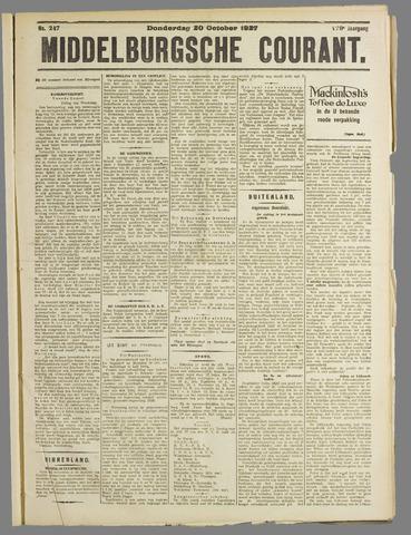 Middelburgsche Courant 1927-10-20