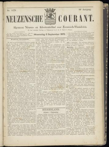 Ter Neuzensche Courant. Algemeen Nieuws- en Advertentieblad voor Zeeuwsch-Vlaanderen / Neuzensche Courant ... (idem) / (Algemeen) nieuws en advertentieblad voor Zeeuwsch-Vlaanderen 1876-09-06