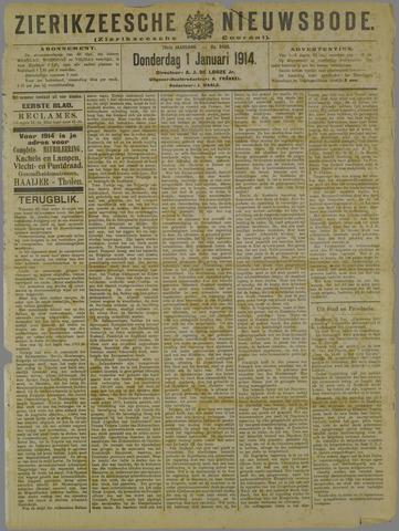 Zierikzeesche Nieuwsbode 1914-01-01