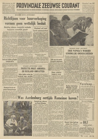Provinciale Zeeuwse Courant 1957-08-07