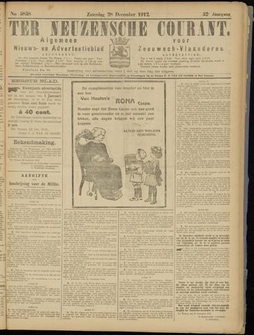 Ter Neuzensche Courant. Algemeen Nieuws- en Advertentieblad voor Zeeuwsch-Vlaanderen / Neuzensche Courant ... (idem) / (Algemeen) nieuws en advertentieblad voor Zeeuwsch-Vlaanderen 1912-12-28