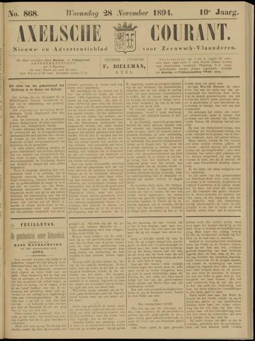 Axelsche Courant 1894-11-28