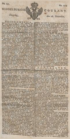 Middelburgsche Courant 1779-11-16