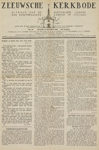Zeeuwsche kerkbode, weekblad gewijd aan de belangen der gereformeerde kerken/ Zeeuwsch kerkblad 1945-10-19