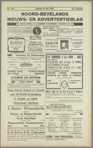 Noord-Bevelands Nieuws- en advertentieblad 1936-05-30