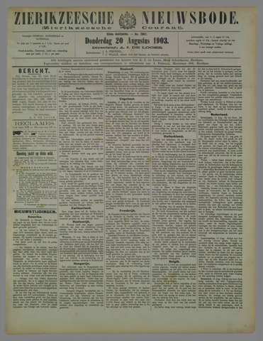 Zierikzeesche Nieuwsbode 1903-08-20