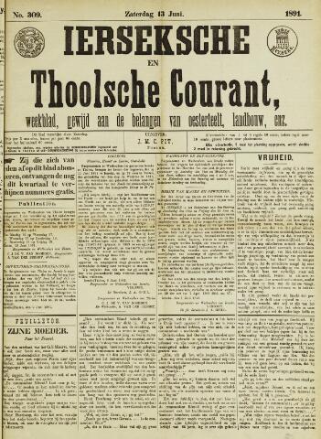 Ierseksche en Thoolsche Courant 1891-06-13