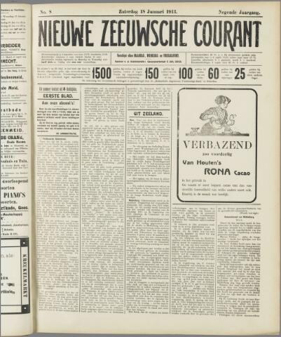Nieuwe Zeeuwsche Courant 1913-01-18