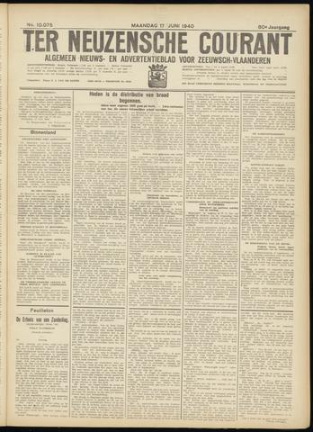 Ter Neuzensche Courant. Algemeen Nieuws- en Advertentieblad voor Zeeuwsch-Vlaanderen / Neuzensche Courant ... (idem) / (Algemeen) nieuws en advertentieblad voor Zeeuwsch-Vlaanderen 1940-06-17
