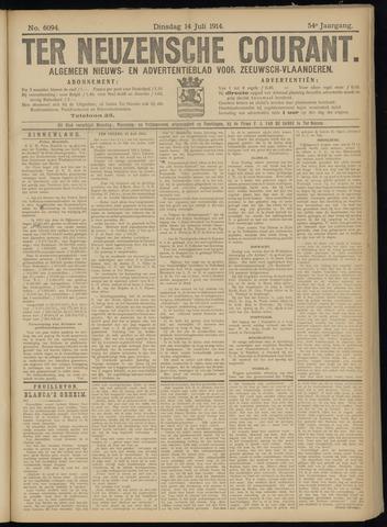 Ter Neuzensche Courant. Algemeen Nieuws- en Advertentieblad voor Zeeuwsch-Vlaanderen / Neuzensche Courant ... (idem) / (Algemeen) nieuws en advertentieblad voor Zeeuwsch-Vlaanderen 1914-07-14